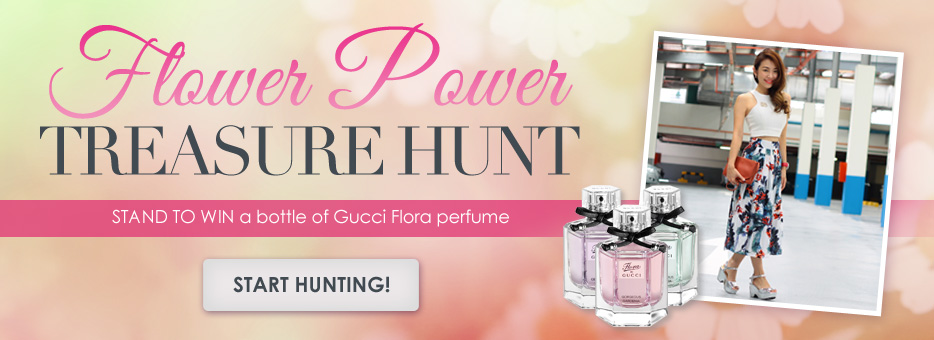 Flower Power, Clozette, Treasure Hunt, Perfume, Fragrance, Gucci, Flora, Floral, OOTD, Fashion