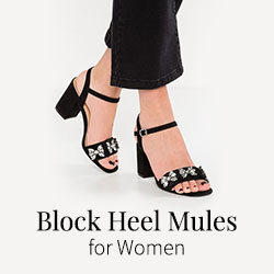 Block Heel Mules for Women